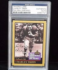 1991 ENOR PRO FOOTBALL HOF CARD #140 CHARLEY TRIPPI PSA/DNA SIGNED AUTO CARDINAL