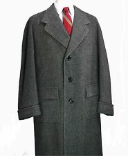 Bespoke Savile Row Bernard Weatherill Tweed Overcoat 42R Large Coat 40's vtg
