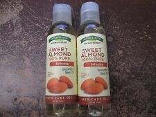 2 NATURE'S TRUTH SWEET ALMOND 100% PURE SOFTENING SKIN CARE OIL    AA 2966