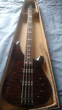 NEW 4 String Electric Bass Guitar With Active Pick ups Quilted Black