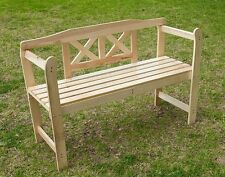 LARGE 2 SEATER WOODEN GARDEN BENCH CHAIR PARK SEAT OUTDOOR FURNITURE RRP £59.99