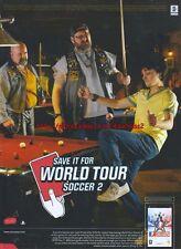 """World Tour Soccer 2 """"PSP"""" 2006 Magazine Advert #4708"""