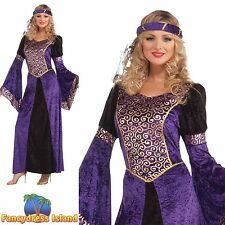 MEDIEVAL MAIDEN TUDOR PRINCESS PANTO UK 10-14 ladies womens fancy dress costume