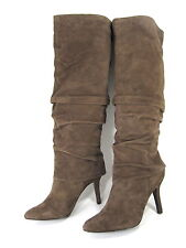 """ISOLA WOMEN'S """"MOCHA"""" KNEE-HIGH SLOUCH BOOTS TAUPE GREY SUEDE BROWN SIZE 9.5"""