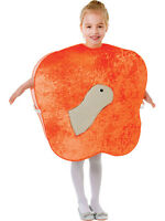 Child Animals & Nature Giant Peach Fruit Outfit With Worm Fancy Dress Unisex New