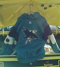 Vintage San Jose Sharks NHL Hockey Hooded Starter Parka Jacket Men's M Embroider