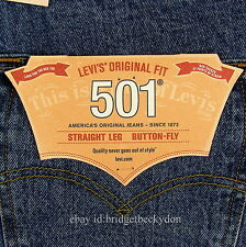 Levis 501 Jeans New Mens Size 36 x 32 STONEWASH Original Button Fly Levi's #102