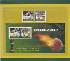 Australia 2007 SG 2736/8 MUH in official pack, HOWZAT Ashes Win