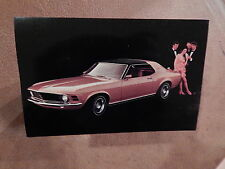 NOS MUSTANG ORIGINAL FORD ISSUE UNUSED PHOTO POSTCARD 1970 GRANDE 70 COUPE