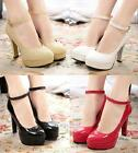 Womens High Heel Stiletto Sexy Platform Ankle Strap Pump Shoes