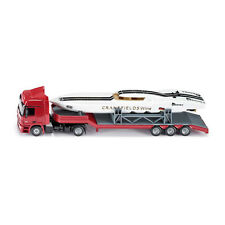 Siku 3936 Mercedes Actros Semi-trailer truck with Power Boat red Scale 1:50 ! °