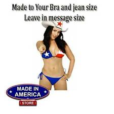 Texas Flag Womens Two Piece String Bikini Swimsuit Don't Mess With Texas