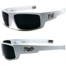 Locs Mens Cholo Biker Sunglasses - White LC77
