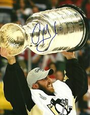 Alex Goligoski Hand Signed 8x10 Stanley Cup Photo Pittsburgh Penguins NHL