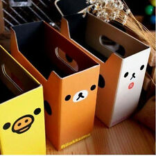 Paper Desk Storage Box Organizer Pencil Holder Stationary Office Collection Bear