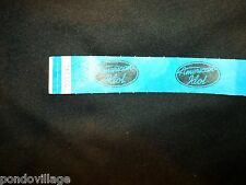 AMERICAN IDOL Official Credential BLUE tyvek Wristband. NEW, Never Worn!