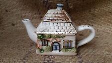 NEW! Unique Country Cottage Tea Party Pot - Decorative Little Hand Painted House