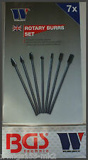Werkzeug - 6 mm Carbide Burrs - Ex Long Set 7 Pcs - Double Diamond Cut - 78092