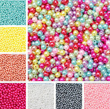 Wholesale Lots Bulk Multicolor 500pcs  Round Pearl Imitation Glass Bead 4mm Hot