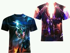 SMITE MAGIYA TANATOS ALLOVER FULL SUBLIMATION PRINT ART GAME TEE! All SIZES!