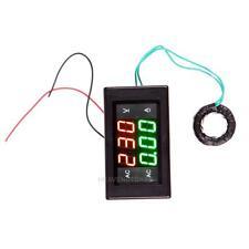 AC 500V 100A Digital Voltmeter Ammeter LED Amp Volt Meter +CT (Shunt) Black hv2n