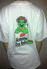 German radio t-shirt ANTENNE DAS RADIO white original XL cotton HANES BEEFY-T