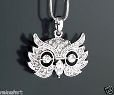 W Swarovski Crystal Owl Wise Wisdom Smart Emblem Mask Pendant New Necklace