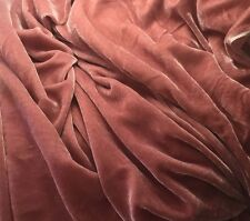 "Silk VELVET Fabric DUSTY ROSE 9""x22"" remnant"