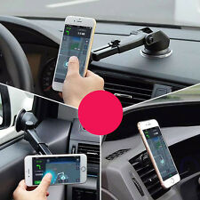 Universal Magnetic Suction Cup Car Mount Stand Long Arm For iPhone 6/6s Samsung