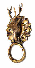 Reindeer Door Knocker Solid Brass Unique Home Decor Animal Door Rare New