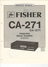 FISHER Service Manual Anleitung CA-271   B1474