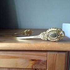 4 Matching Brass Curtain Tie Backs
