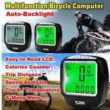 Dwn Backlight LCD Waterproof Multifunction Bicycle Computer Odometer Speedometer