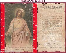 2475 SANTINO HOLY CARD COR JESU SACRO CUORE GESù SANTA LEGA EUCARISTI. SLE 9147