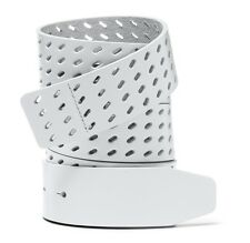 "New Oakley 1 1/2"" Premium Leather Golf Belt Strap White for O Buckle $60"