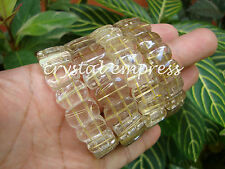 FENG SHUI - 13MM to 15MM (TRANSPARENT) RUTILATED QUARTZ BANGLE CUFF BRACELET