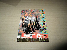 GEELONG GARY ABLETT SNR SIGNED SIX OF THE BEST CARD VERY RARE