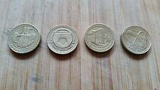 Rare £1 One Pound Coins x 4 featuring UK Bridges 2004/05/06 & 07