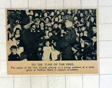 1920 Pipers Of The Irish Guards Playing For Party Of Soldiers Children Holborn