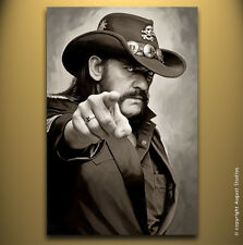 LEMMY KILMISTER Motörhead original signed print poster CANVAS POP ART PAINTING