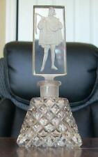 Vintage Czech Perfume Bottle with Troubadour Stopper Signed