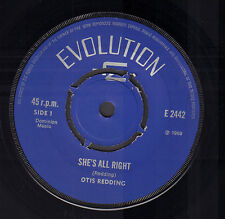 "OTIS REDDING ‎– She's All Right / Tuff Enuff (RARE 1969 EVOLUTION SINGLE 7"")"