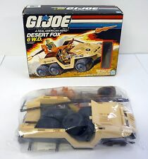 GI JOE DESERT FOX 6WD Vintage Action Figure Vehicle MIB SEALED CONTENTS 1988