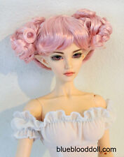 "1/3 bjd 8-9"" doll head light pink buns style wig Luts dollfie iplehouse ship US"