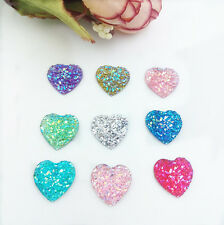 Heart resin Craft DIY 26pcs mix Flatback scrapbooking Cabochons decoration &9