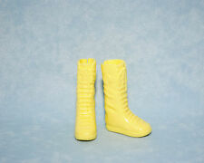 SO COOL! Bright Banana Yellow Tennis Shoe Faux Lace Up Boots for BARBIE