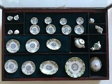 Hansson Dollhouse Miniature Chinese Porcelain Dining Set 24 pcs. 1:12