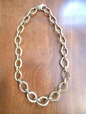 Gold Plated Chain Necklace Large Gold Links Vintage Nice Weight Good Condition