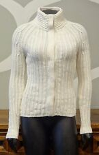 BANANA REPUBLIC XS Cream Cashmere Blend Cable Knit Snap Cardigan Sweater
