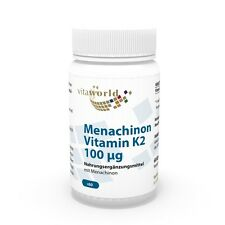 Vita World Menachinon MK7 Vitamin K2 100mcg 60 Kapseln Vit K Made in Germany